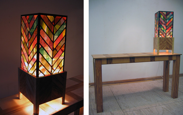 Small table and lamp, 2005